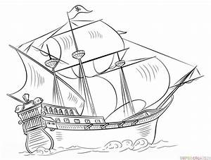 How to draw a pirate ship | Step by step Drawing tutorials ...