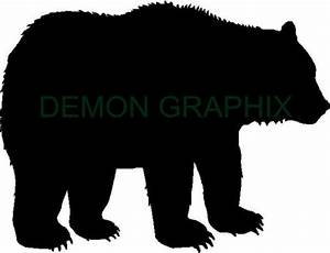 Grizzly Bear silhouette vinyl decal/sticker hunting hunter