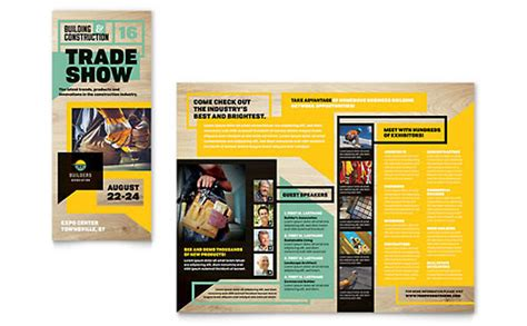 builders trade show flyer template design