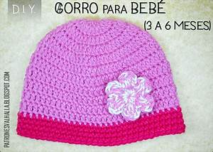 Patr U00f3n Gratis  Gorro Para Beb U00e9 A Crochet    0 A 3 Meses