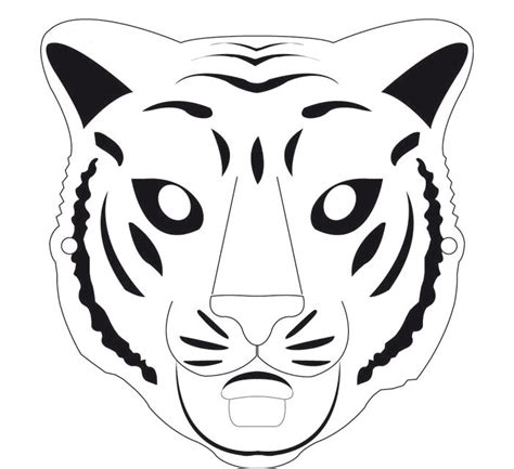 animal mask template animal templates  premium