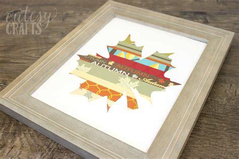 easy fall crafts scrapbook paper leaf diycandycom