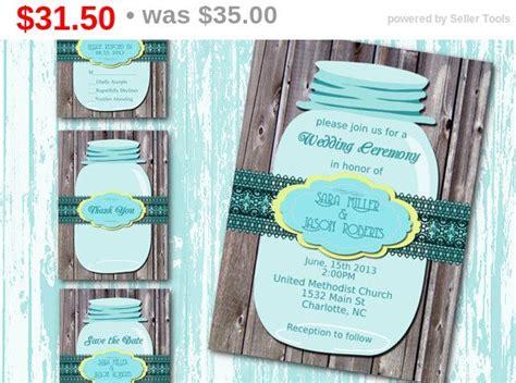 31 Rustic Diy Home Decor Projects: Sale DIY Printable Wedding Invitation Suite-Mason Jar