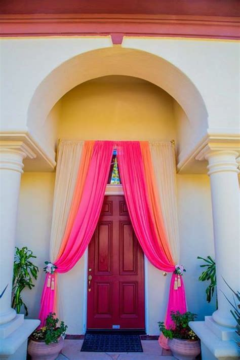 image result  metallic tulle front entrance decoration