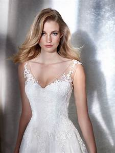 2018 tank v neckline floor length lace bridal ball gown With robe femme solde