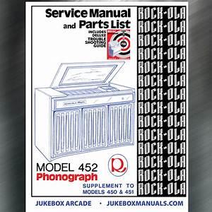 Rock Ola Model 452 Service Manual   Parts Catalog With