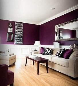 20 idees d39ameublement salon en violet elegant for Idee deco salon violet