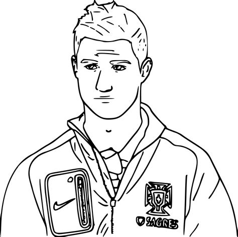 Kleurplaat Ronalda by Cristiano Ronaldo Coloring Pages Sketch Coloring Page