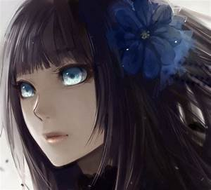Anime For > Anime Girl With Brown Hair And Blue Eyes ...