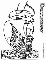 Pirate Ship Coloring Pages Outline Pirates Ships Boys Printable Boat Buccaneer Skulls Creative Colouring Hard Cartoon Yescoloring Boats Seas Children sketch template
