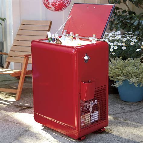 retro rolling drink cooler the green