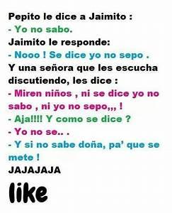 Chiste Citas en español Pinterest