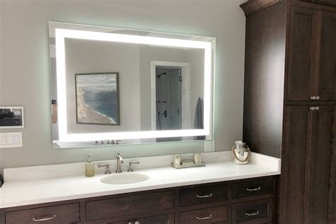 60 Inch Wide Bathroom Mirror by Front Lighted Led Bathroom Vanity Mirror 60 Quot X 40