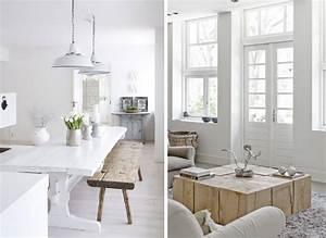 davausnet salon blanc bois vert avec des idees With quelle couleur avec le bois 3 renovation interieur esprit scandinave nordique