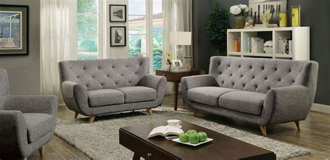 Carin Light Gray Living Room Set From Furniture Of America