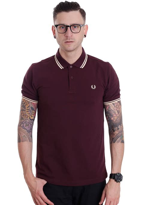 fred perry köln fred perry slim fit tipped mahogany vanilla custard polo streetwear shop impericon