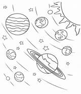 Coloring Pages Space Planets sketch template