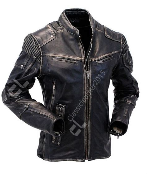 mens vintage biker style motorcycle cafe racer distressed