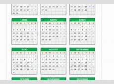 Calendario 2017 en Excel PlanillaExcelcom