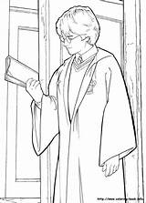 Coloring Potter Harry Pages Chamber Secrets Colouring sketch template