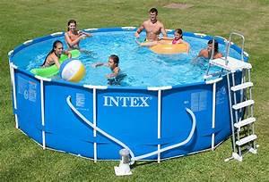 Bache Hivernage Piscine Intex : piscine tubulaire intex ronde metal frame 4 57 x h1 22m ~ Dailycaller-alerts.com Idées de Décoration