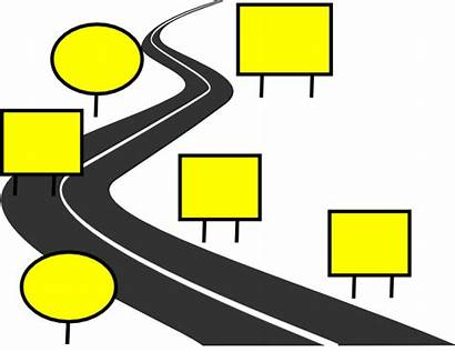 Road Clip Clipart Path Journey Clker Signs