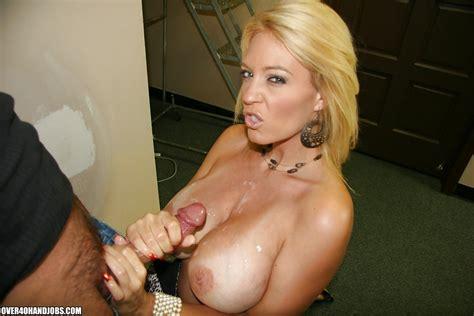 Lusty Mature Blonde Receives A Cumshot On Her Huge Boobs