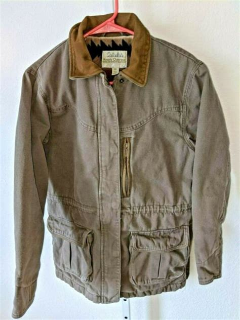 cabelas womens heavy jacket size small lined storm flap
