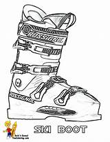 Coloring Sports Ski Boot Winter Skiing Yescoloring Olympic Sheet Print Freeze sketch template