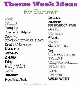 Frugal Summer Fun Ideas: Summer Theme Week Ideas