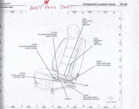 Seat Heater Wiring Diagram For Ford Fiestum by Power Heated Seat Wiring Info 05 Up The Mustang Source
