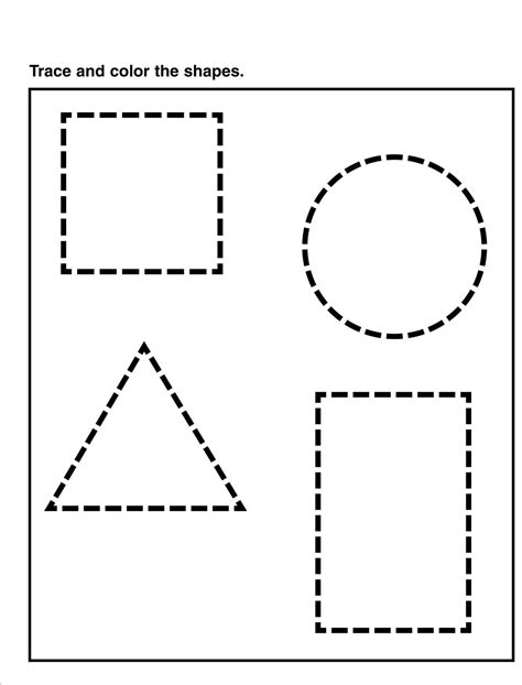 tracing pages for preschool learning printable 304 | tracing pages for preschool shape