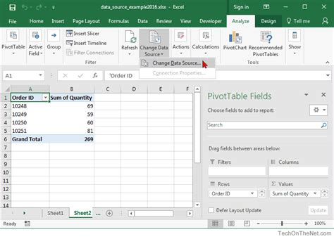pivot table in excel 2016 ms excel 2016 how to change data source for a pivot table