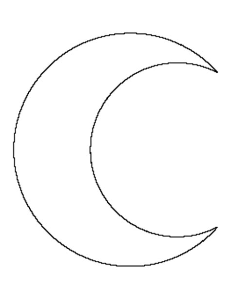 moon template crescent moon pattern templates crescents moon and patterns