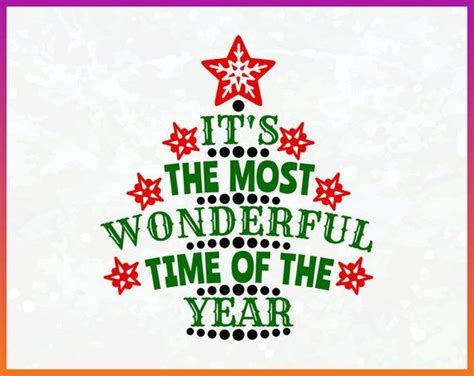 Your download includes the following 8 files : It's the Most Wonderful Time Of The Year Merry Christmas ...