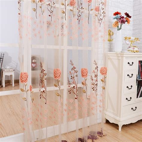 see through sheer panel door sheer curtains tassel