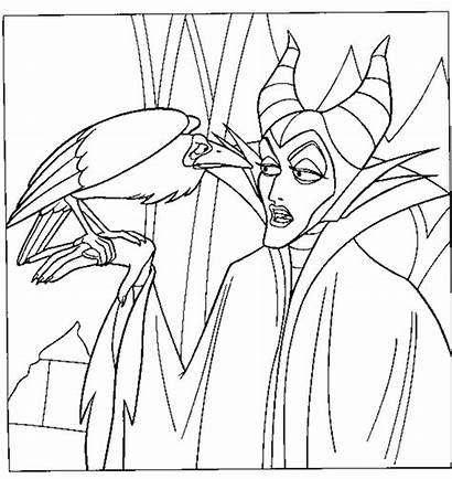 Maleficent Coloring Pages Disney Sleeping Beauty Printable