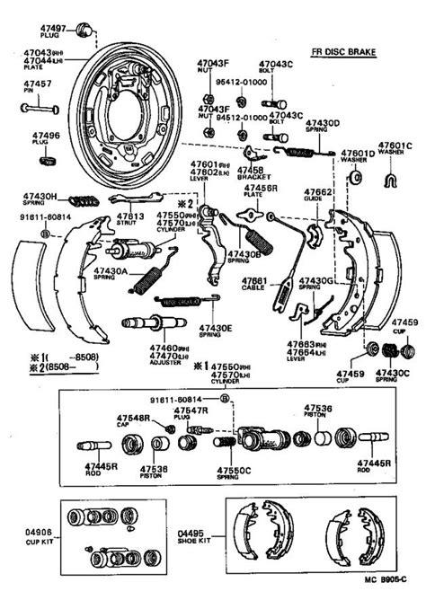 Toyota Truck Drum Brake Shoe Rear
