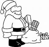 Santa Coloring Claus Pages Give Prepare Present Coloringsky sketch template