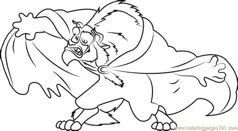 Fierce Disney Beast Coloring Page