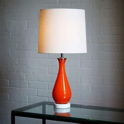 Gourd Table L West Elm by West Elm Rejuvenation Colored Glass Table L Orange
