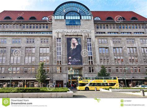 kadewe berlin shops entrance along tauentzienstrasse in kadewe editorial photography image 34768367