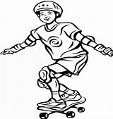 Skateboard Coloring Pages Printable Boy Cool Coloring2print sketch template