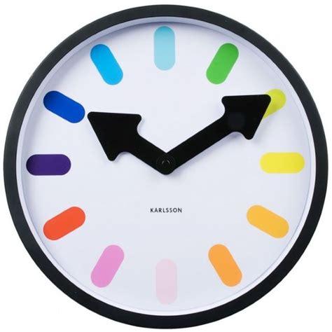 fourniture bureaux horloge design colorée kollori com