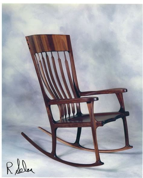 Maloof Rocking Chair Seat by Maloof Inspired Black Walnut Rocking Chair