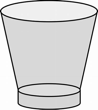 Glass Empty Clipart Cup Shot Clip Cliparts