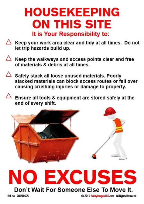 construction safety poster housekeeping   site