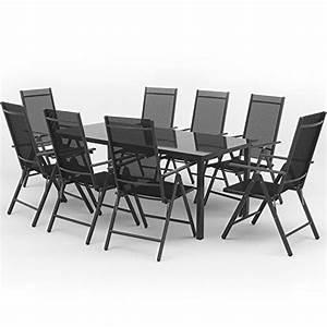Gartenmöbel Set 8 Stühle : alu sitzgarnitur gartenm bel anthrazit set 9 teilig garnitur sitzgruppe 1 tisch 190x87 8 ~ Bigdaddyawards.com Haus und Dekorationen