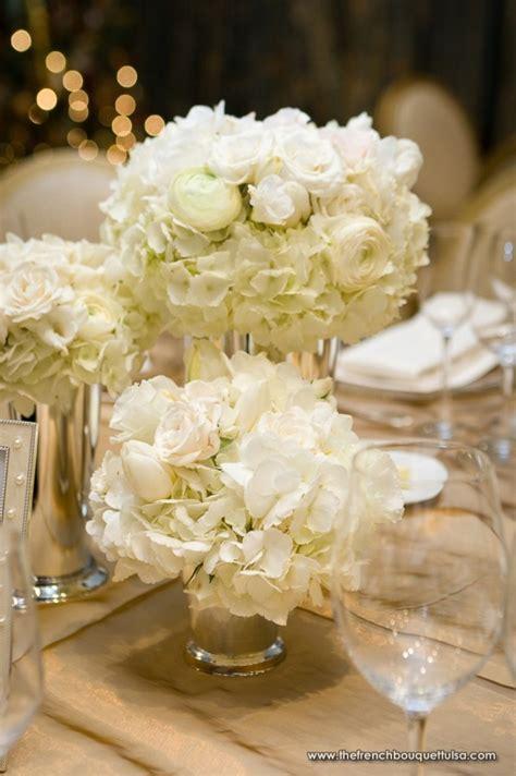 White Wedding Flower Arrangements Centerpieces