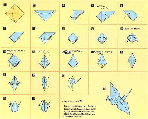 comment faire un origami origami facile oiseau